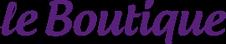 Online clothing store Le Boutique